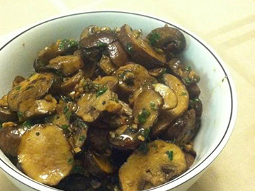 Garlic Roasted Baby Bella Mushrooms