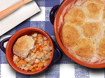 Vegetable Ragout with Garlic Sage Biscuits